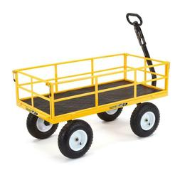 1,200 lbs Heavy Duty Steel Yard Cart Garden Lawn Utility Wag