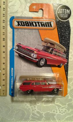 MATCHBOX 1/64 '59 CHEVY WAGON RED