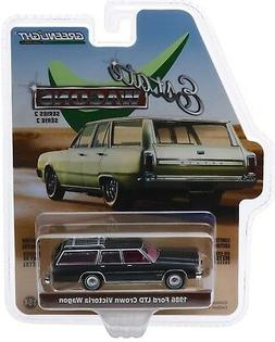 1:64 GreenLight *ESTATE WAGONS 2* BLACK 1986 Ford LTD Crown