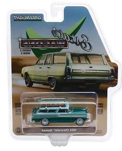 1:64 GreenLight *ESTATE WAGONS 2* GREEN 1955 Chevrolet Nomad