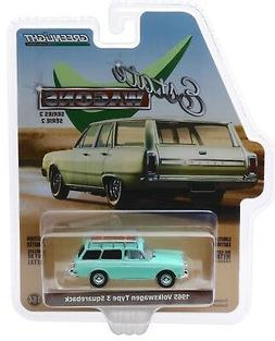 1:64 GreenLight *ESTATE WAGONS 2* MINT 1965 VW Volkswagen Ty