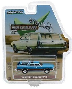 1:64 GreenLight *ESTATE WAGONS 3* VIKING BLUE 1972 Oldsmobil