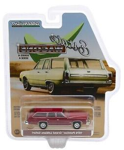 1:64 GreenLight *ESTATE WAGONS 4* RED 1976 Pontiac Grand LeM