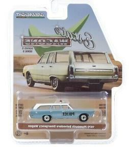 1:64 GreenLight *ESTATE WAGONS 5* Blue 1970 Plymouth Belvede