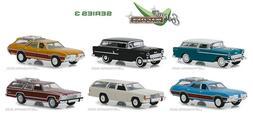 Greenlight 1:64 Estate Wagons  Series 3 set of 6 cars   FACT