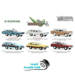 Greenlight 1:64 Estate Wagons Series 5 - 6 Piece Set Factory