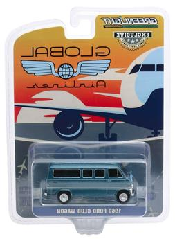 1:64 GreenLight *GLOBAL AIRLINES* 1969 Ford Club Wagon VAN *