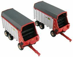 1/64 ERTL H&S EXTRA CAPACITY TWIN AUGER FORAGE WAGON SET