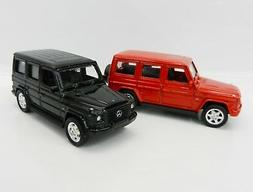 1:64 WELLY = Mercedes-Benz G Class Wagon *SET OF 2* RED & BL