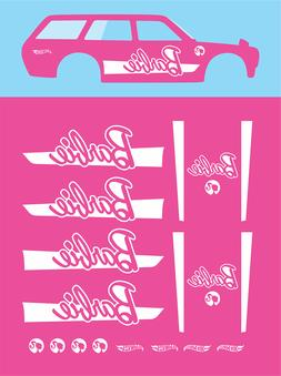 Hot wheels 1/64 Water Slide Decals DATSUN 510 WAGON BARBIE