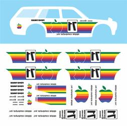 "Hot wheels 1/64  Water Slide Decals Datsun "" APPLE "" 510 Blu"