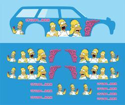 Hot wheels 1/64 Water Slide Decals Datsun Homer Simpson  510