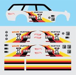"Hot wheels 1/64  Water Slide Decals Datsun "" ID SERIE "" 510"