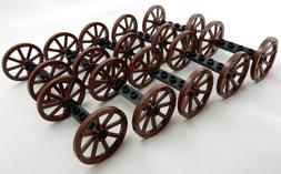 10 Sets of NEW LEGO WAGON WHEELS  vehicle lot 33 mm 1.25 in
