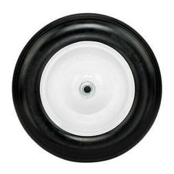 """14.2"""" Flat Free Wheel Barrow Wheelbarrow Tire Solid Foam 5/8"""