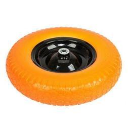 "16"" Flat Free Wheel Barrow Tire Solid Foam 5/8 Axle Cart Wag"