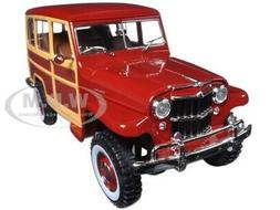 1955 WILLYS JEEP STATION WAGON BLUE 1/18 DIECAST MODEL BY RO