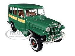 1955 WILLYS JEEP STATION WAGON GREEN 1/18 DIECAST MODEL CAR