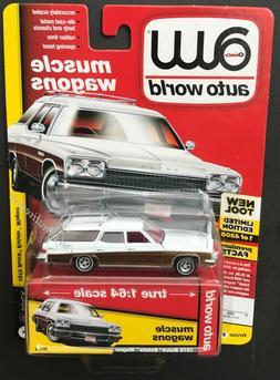 Auto World 1975 Buick Estate Wagon 1:64 Diecast Car White