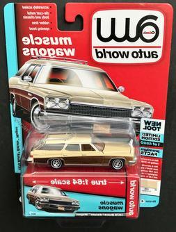 Auto World 1975 Buick Estate Wagon 1:64 Sand Beige Diecast C