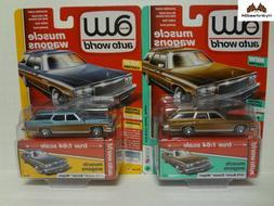 Auto World 1976 Buick Estate Wagon AW64212 Set of 2 May 2019