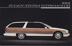 1991 BUICK ROADMASTER ESTATE WAGON VINTAGE COLOR POST CARD -