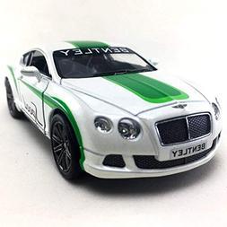 2012 Bentley Continental GT Speed White Color Kinsmart 1:38