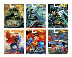 Hot Wheels 2016 Pop Culture Batman v. Superman 6-Car Bundle
