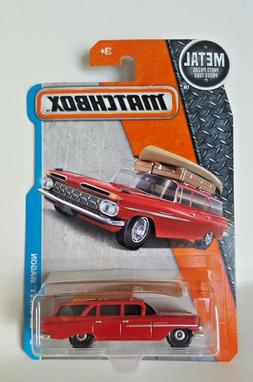 Matchbox 2017  # 1   '59 Chevy Wagon   Red With Canoe