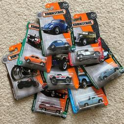 2017-2018 Matchbox Cars - Selection - VW Beetle, Wagoneer, K