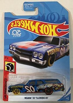 Hot Wheels 2018 HW Daredevils '70 Chevelle SS Wagon, Blue