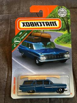 MATCHBOX 2018 MBX ROAD TRIP  '59 CHEVY WAGON WITH CANOE