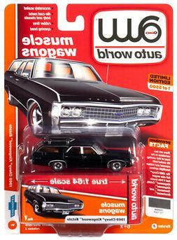 2019 AUTO WORLD 1:64 *PREMIUM 3B* Flat Black 1969 Chevy King
