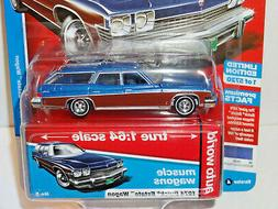 AUTO WORLD 2019 2A MUSCLE WAGONS BLUE POLY 1974 BUICK ESTATE