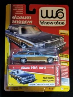 2019 Auto World 1:64 Premium Muscle Wagons R1vB 1976 BUICK E