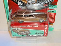 AUTO WORLD 2019 AW64212A MUSCLE WAGONS MUSKET BROWN 1976 BUI