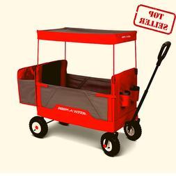 Radio Flyer, 3-in-1 all-terrain EZ Fold Wagon with Canopy, R