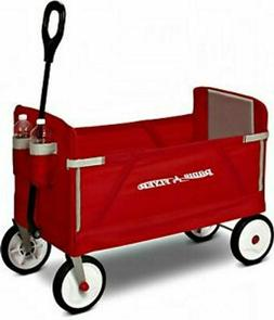 Radio Flyer 3-In-1 Ez Fold Wagon Ride On, Red