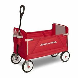 Radio Flyer 3-in-1 EZ Fold Wagon Ride On Red New Free Shippi