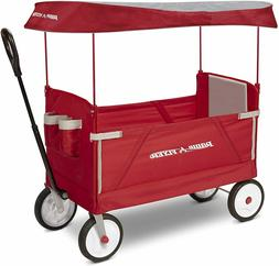 Radio Flyer 3-In-1 EZ Folding Outdoor Collapsible Wagon, Red
