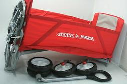 Radio Flyer 3-In-1 Tailgater Easy Folding Wagon w Caddy & 2