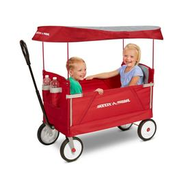 Radio Flyer, 3-in-1 EZ Fold Wagon with Canopy, Seat Belts, R