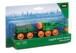 BRIO 33698 Clever Crane Wagon - Railway Rolling Stock Age 3-