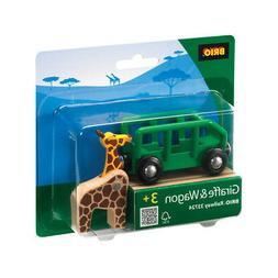 BRIO 33724 Giraffe and Wagon - Railway Rolling Stock Age 3-5