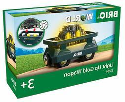 33896 BRIO WORLD Train Railway Light Up Gold Wagon Wooden To