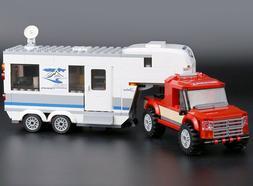 385pcs Pickup truck -caravan wagon Building Blocks Bricks To
