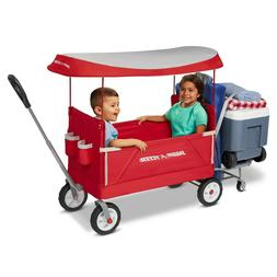 Radio Flyer 3951 3 in 1 EZ Fold Wagon with Canopy- Redtailga