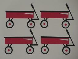 4 wagons wagon scrapbook greeting card die cuts
