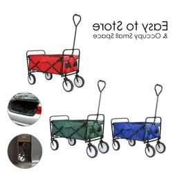 4 Wheel Pull Push Heavy Duty Collapsible Folding Wagon Beach