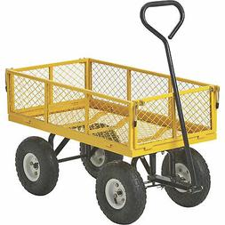 400-Lb. Cap. Steel Outdoor Lawn Garden Pull Wagon Cart Trail